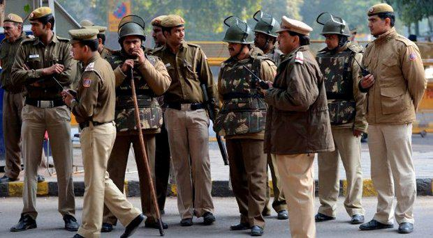 Police in New Delhi. File Picture