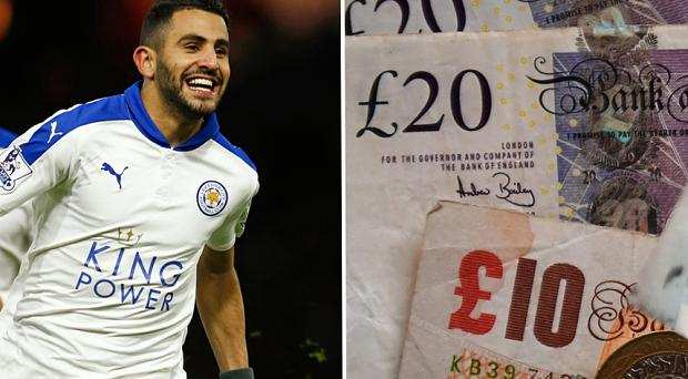 The gambler stood to win £250,000 if Leicester do go on to win the league