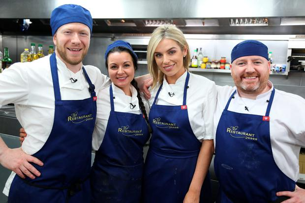 The Restaurant 2016 - Episode 5 - Pippa OConnor In picture: Stephen McAllister, Louise Lennox, Pippa OConnor & Gary Hanlon