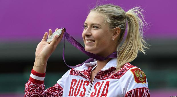 Maria Sharpova won a silver medal at the 2012 Olympics in London