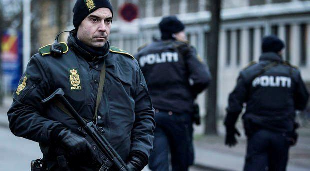 Danish police patrolling the streets of Copenhagen. File picture