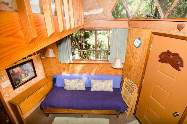A picturesque cabin surrounded by woodland in Aptos, California, has been named the most frequently booked accommodation on the rental site. Photo: Airbnb