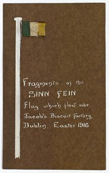 Sections of tricolour which flew over Jacobs in 1916.