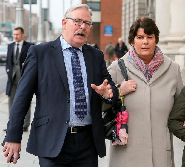 Noel and Angela Farrell, of Knocklyon, Templeogue, Dublin, leaving court yesterday after the hearing. PIC: COURTPIX