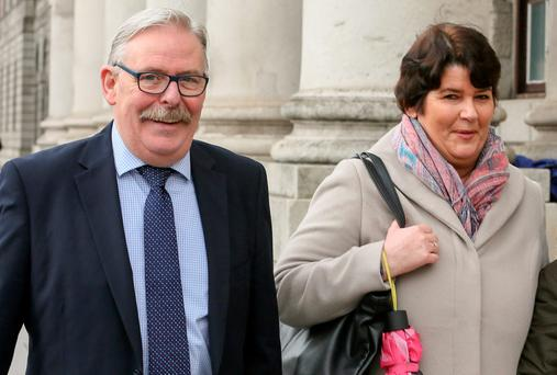Noel and Angela Farrell, of Knocklyon, Templeogue, Dublin, leaving court after the hearing. PIC: COURTPIX
