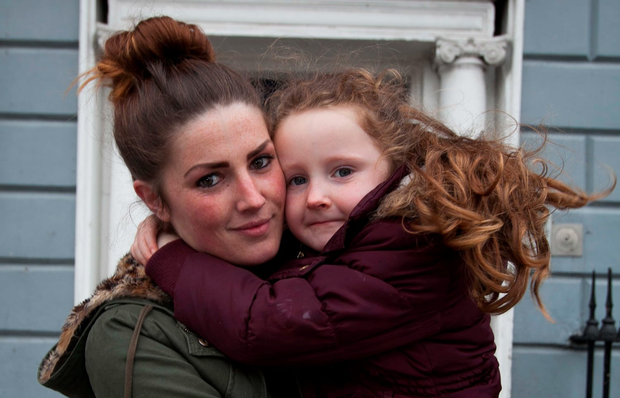 Mum Rachel McGuinness with her daughter Courtney (Collins)