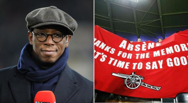 Ian Wright got into a blazing row with an Arsenal fan on Twitter