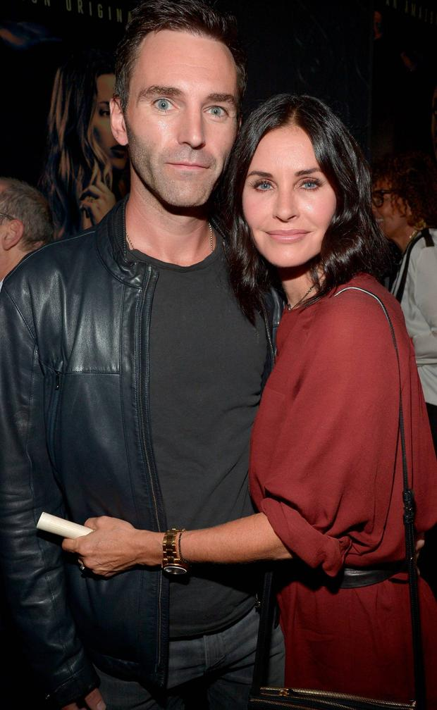 Johnny McDaid and Courtney Cox pictured in LA before their split.