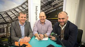 Cathal Lane, Managing Partner, Tomkins; Brian Purcell, Ready Business show presenter; and Joe Elias, CEO, Retail in Motion