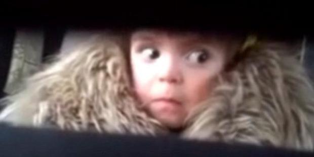 Toddler reacts to Jaws 'shark' theme