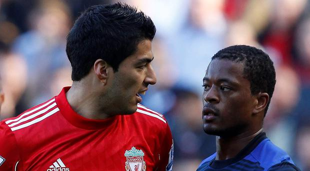 Luis Suarez's abuse of Patrice Evra sparked a toxic saga in 2011 Photo: REUTERS/Phil Noble