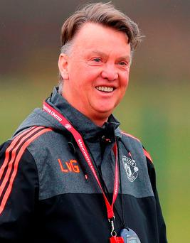 Louis van Gaal: 'It is curious that we have beaten Liverpool so many times when I have been here. It's also good for me. When I beat teams such as Liverpool, then the appreciation of the fans is higher and bigger' Photo: Dave Thompson/Getty Images