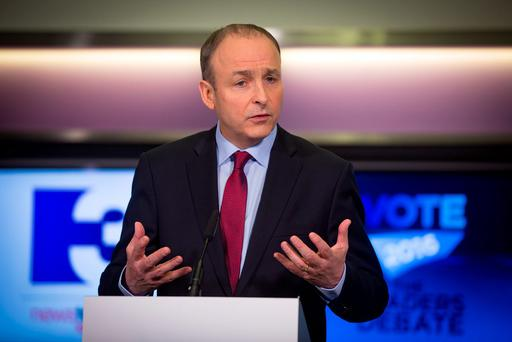 Fianna Fail's Micheal Martin. Photo: Arthur Carron