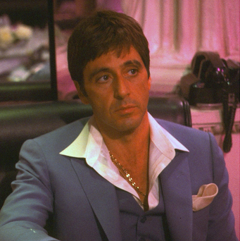 Al Pacino as Tony Montana in a scene from