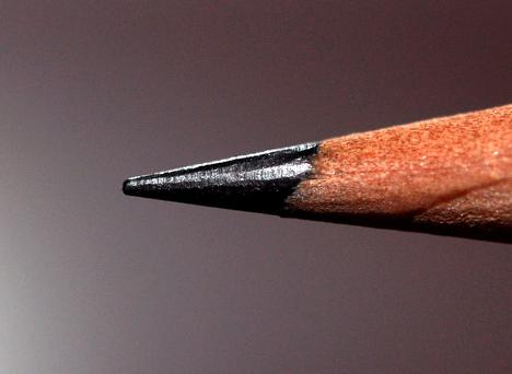 The same graphite in the tip of a pencil is the same material used to make the 'super filters'