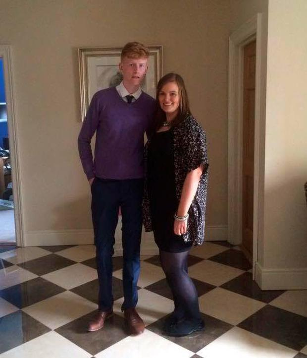 Rachel Fitzgerald (20) along with her younger brother Billy (19)