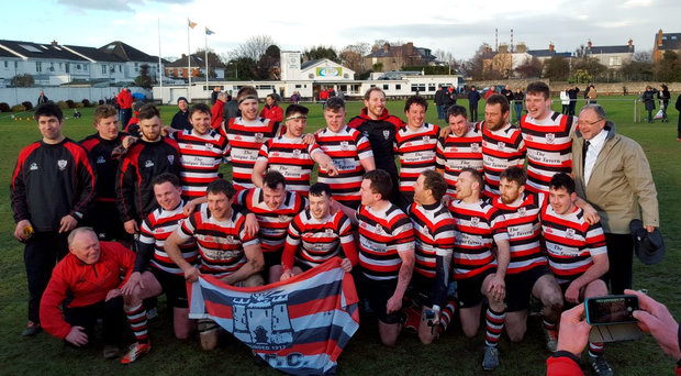 The victorious Enniscorthy team celebrate their success