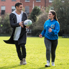Rugby star Dan Carter at the Foroige Youth Citizenship Awards launch in Fitzwilliam Square, Dublin. Photo: Jerry McCarthy