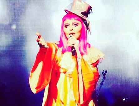 Madonna appeared as a clown on stage in Melbourne. PIC: Madonna Twitter