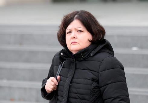 Alice Warnock (54) of Rathbeale Court, Swords, Co Dublin pleaded guilty at Dublin Circuit Criminal Court to nine sample counts of stealing from bank branches on Talbot Street and Malahide Road, Coolock, between November 2004 and March 2012. Pic Collins Courts