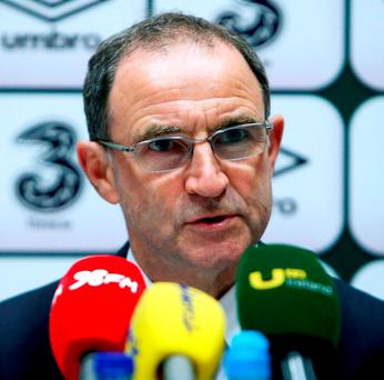 Republic of Ireland manager Martin O'Neill. Photo: Brian Lawless/PA Wire