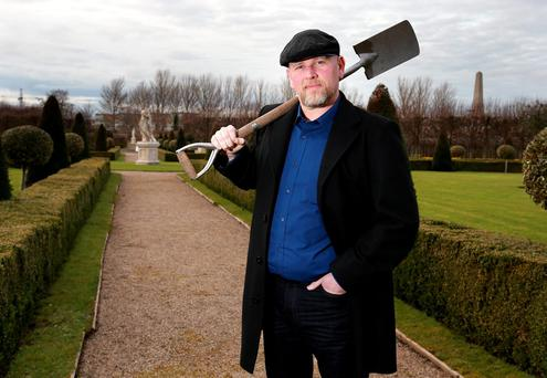 Award-winning garden designer Fiann Ó Nualláin at the Royal Hospital in Kilmainham yesterday. Photo: Frank McGrath