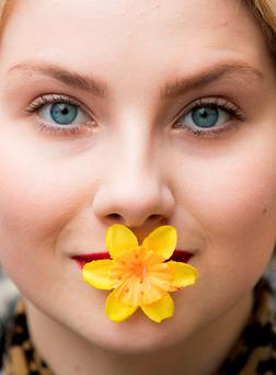 Claudia Tarnowska, from Carlow, supporting the Irish Cancer Society's Daffodil Day. Photo: Andres Poveda