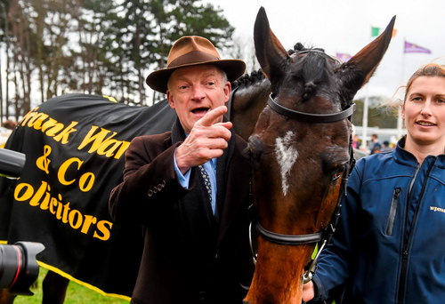 Willie Mullins is of the opinion that Douvan is the best he has ever trained (SPORTSFILE )