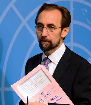 United Nations (UN) Human Rights chief Zeid Ra'ad al-Hussein. Photo: Fabrice Coffrini/AFP/Getty Images