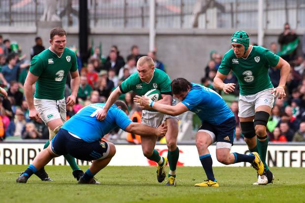 Ireland's Keith Earls in action. Photo: Reuters