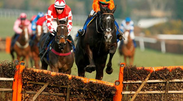 Flying Angel ridden by Ryan Hatch wins the Imperial Cup Handicap Hurdle at Sandown Photo: Paul Harding/PA Wire