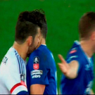 Pictures from the BBC appear to show Diego Costa biting Everton's Gareth Barry