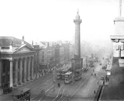 Nelson's Pillar, which was the heighest point in Dublin Photo: Independent Newspapers and NPA National Photographic Archive