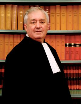 Eminent: Mr Justice Adrian Hardiman who died suddenly, aged 64, at his home in the early hours of Monday morning