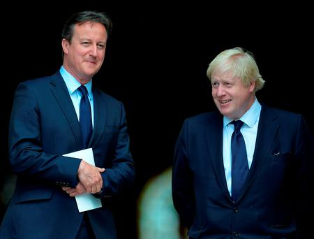 Prime Minister David Cameron (left) and the Mayor of London Boris Johnson. Mr Cameron is