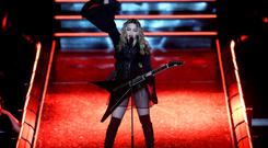 Madonna on stage in Melbourne during her Rebel Heart tour