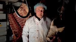 Farmer Clive Clarke from Barna, Co Offaly, whose farm and butcher's business was robbed six times in 13 years. Photo: Selina O'Meara Photography