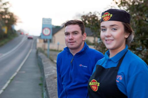 Gary Crossan, manager, and Rachel Mooney, staff member, at one of the takeaways. Photo: North West Newspix