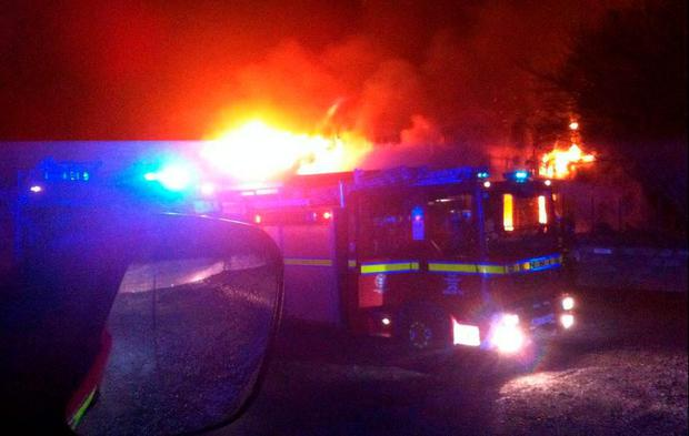 Fire at a commercial building in Tallaght (Photo: Dublin Fire Brigade)