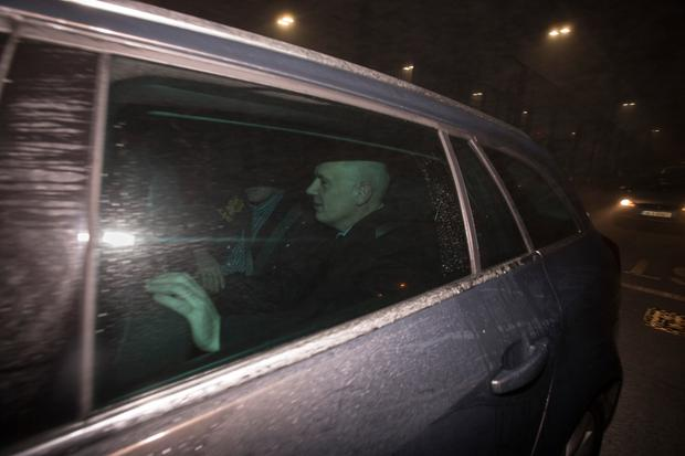 David Drumm arriving from Boston on Aerlingus flight EI136 which landed in Dublin at 5.16am. Photo:Mark Condren