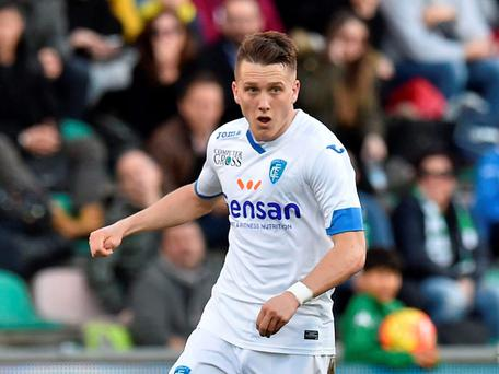 Udinese midfielder Piotr Zielinski, in action for loan club Empoli Getty Images