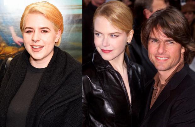 Bella Cruise (left) and Nicole Kidman and Tom Crusise in 1993 (right)