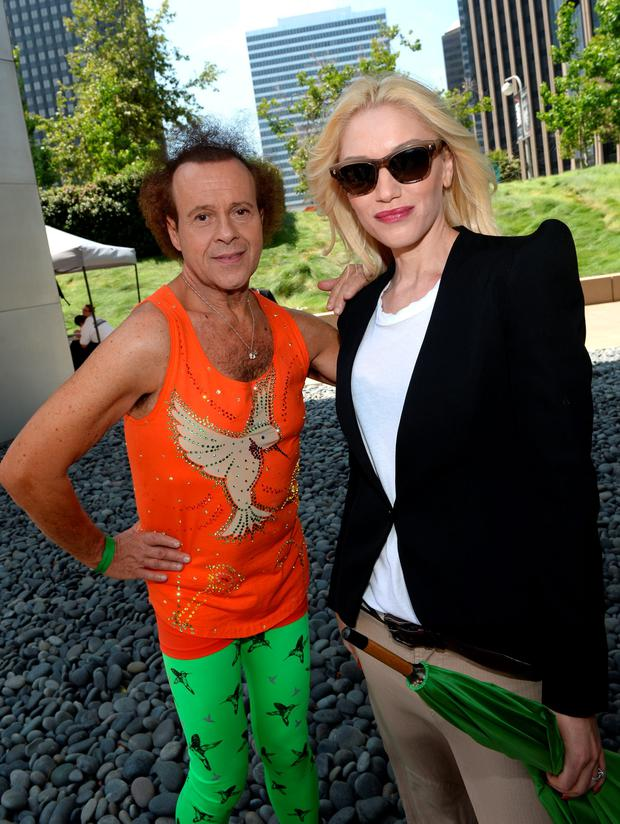 Richard Simmons (L) and Gwen Stefani attend the Elizabeth Glaser Pediatric AIDS Foundation's 24th Annual