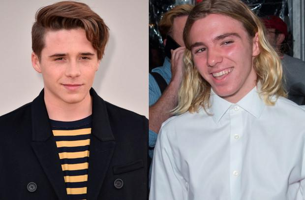 Brooklyn Beckham (left) and Rocco Ritchie (right)