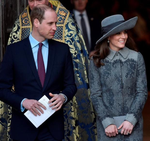 Kate with her husband Prince William. Reuters/Toby Melville