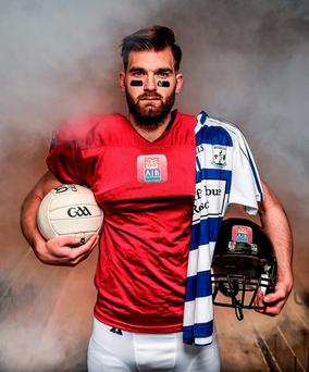 Mayo forward Aidan O'Shea is pictured ahead of AIB's 'The Toughest Trade' which is airing on RTE2 this evening at 9.55pm. 'The Toughest Trade' – part of the #TheToughest campaign – will see O'Shea trade countries and sports with ex-Miami Dolphin Roberto Wallace. Photo Stephen McCarthy/Sportsfile