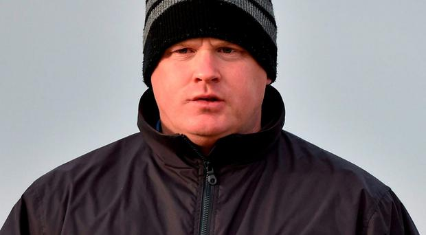 Gordon Elliott in pensive mood at Cheltenham yesterday. Picture: Cody Glenn / SPORTSFILE