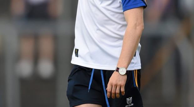 Clare'S Podge Collins is glod to be back playing after being out of action for ten months with a cruciate injury. Photo: Stephen McCarthy/Sportfile