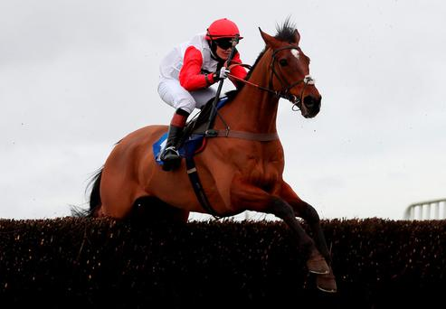 Victoria Pendleton on Pacha Du Polder winning the Betfair Switching Saddles Hunter Chase. Photo: David Davies/PA Wire.