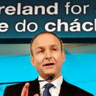 Fianna Fáil leader Micheál Martin at the launch of the party's General Election campaign. Photo: Steve Humphreys